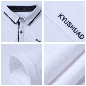 Image 5 - ARCSINX 5XL 폴로 셔츠 남성 플러스 크기 3XL 4XL 가을 겨울 브랜드 남성 폴로 셔츠 긴 소매 캐주얼 남성 셔츠 남성 폴로 셔츠