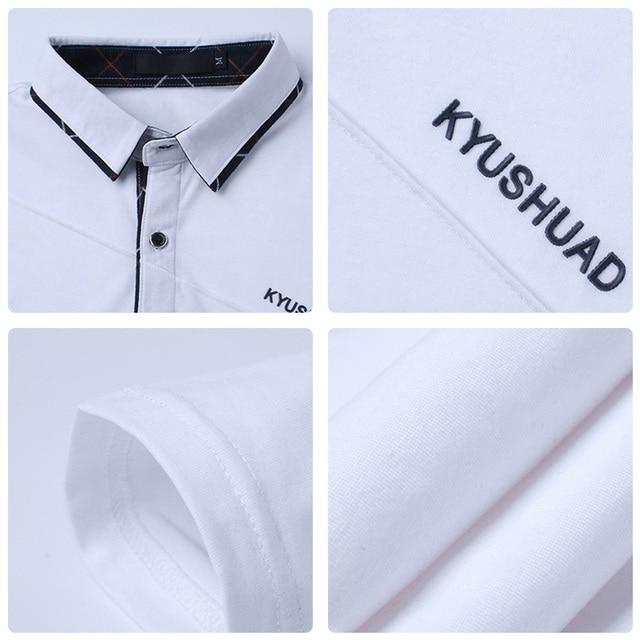 Men's Polo Shirt Long Sleeve Casual Male Shirt 4