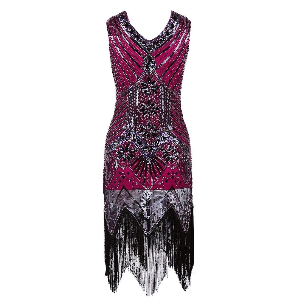Brillante vestido de la aleta del estilo de las mujeres 1920 s 1920 ...