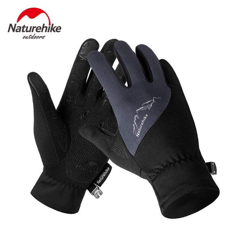 Naturehike NH17S004-T Winter Unisex Sports Touchscreen Windproof Thermal Fleece Gloves Running Jogging Hiking Cycling Ski Bike