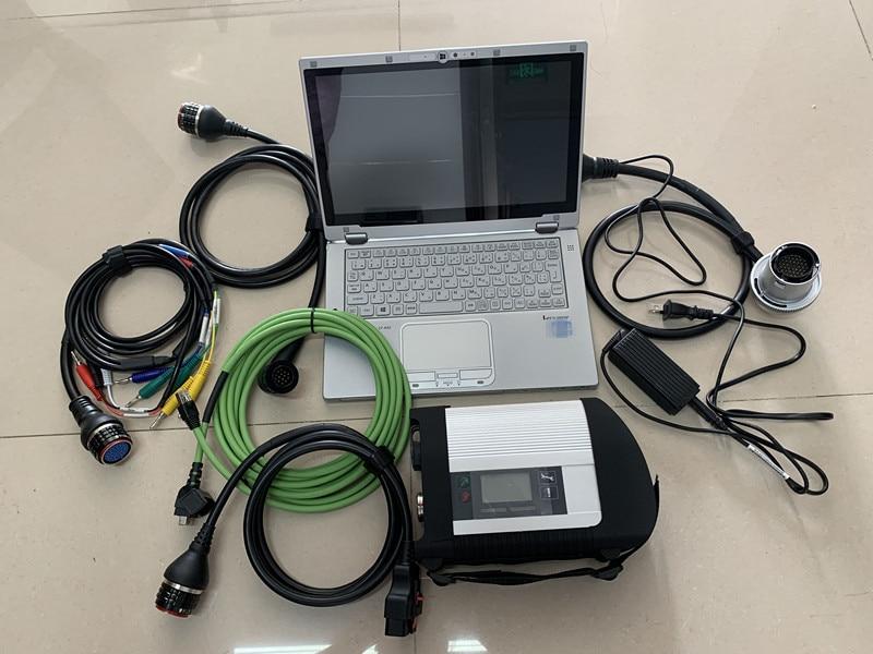 SD Conectar MB Estrela C4 + SSD Sistema 2019.05 v HHT Diagnóstico MB SD Compacto 4 Para MB Ferramenta de Diagnóstico com laptop cf-ax2 i5cpu 8 gb de ram