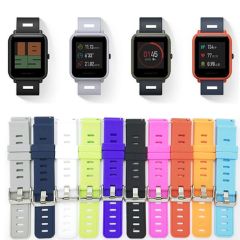 Silicone Watch Strap for Xiaomi Huami Amazfit Bip Bit Band 20mm Correa for Amazfit bip Bracelet Wrist Band Samsung gear S2 Belt watch stap for xiaomi huami amazfit bip bit amazfit bit watchband bracelet for xiaomi huami amazfit bip youth rhinestone band
