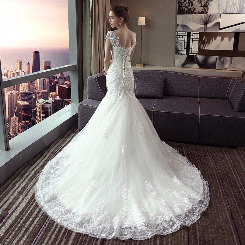 Aliexpress Buy Vintage Mermaid Wedding Dresses Cap Sleeves