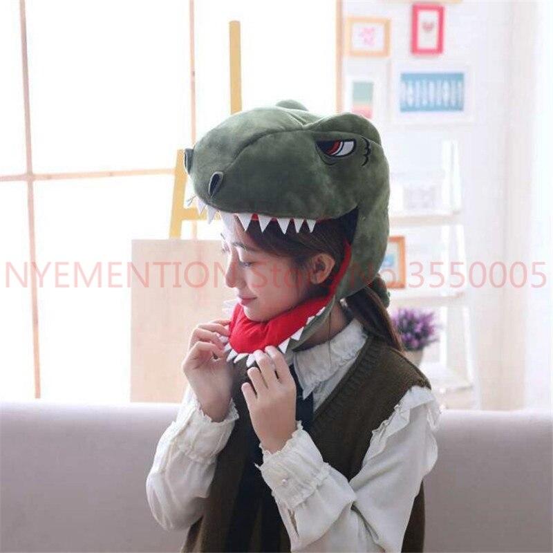 Warnen Dinosaurier Cosplay Kostüme Zubehör Hüte Dino Plüsch Spielzeug Erwachsene Kinder Kreative Phantasie Hut Kappe 10 Stücke HeißEr Verkauf 50-70% Rabatt
