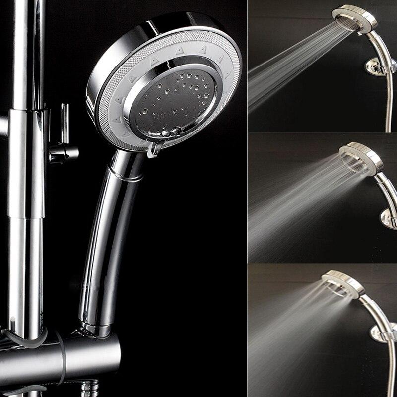 Universal Stylish Handheld Showerhead Water Saving Pressure Rain Shower Head  Easy To Install  Durable Showerhead