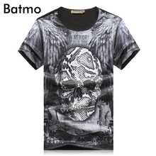 2017 neue ankunft sommer mode pirnted schädel Mode lässig Oansatz grau T-shirt männer, männer T-shirt, größe M. L. XL. XXL. XXXL.4XL