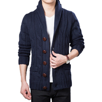 Men Sweater Wool Large Lapel Large Size Casual Pocket Single Breasted men sweater