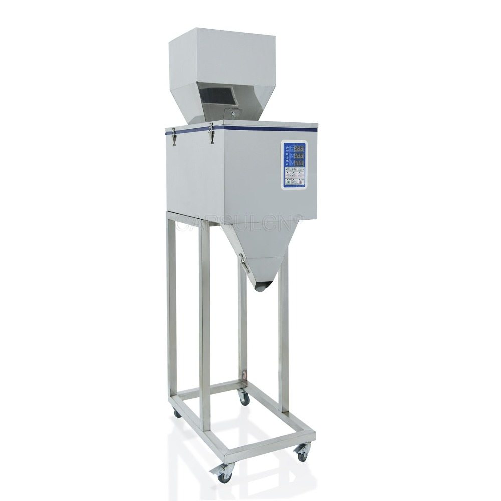 10-999g high-precision stainless steel granule racking machine   (220V/50HZ or 110V/60HZ)  stainless steel granule weighing filling machine with feeder