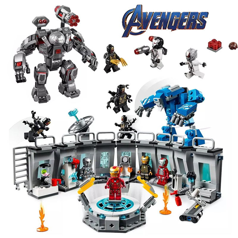 Marvel Avengers Endgame Super Heroes Iron Man Hall Of Armour Figures Building Blocks Compatible Legoinglys Kid Toys For Children