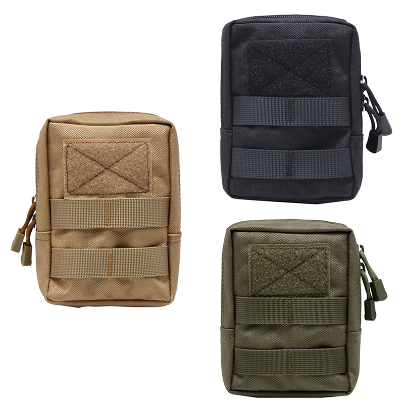 600D Tactical Molle Bag Nylon Pouch Portable Outdoor Mobile Phone Wallet Travel Military Sport Waist Pack