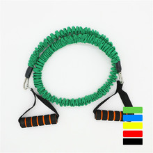 20 LB 1.2 m Fitness Chest Expander Pilates Resistance Bands Portable Puller Sports Exercise Muscle Training Rope Yoga Cable Tube