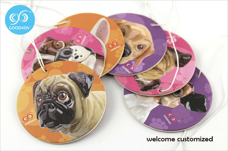 36pcslot puppy expression custom logo car air freshener suitable for kitchen bathroom car etc paper air freshener