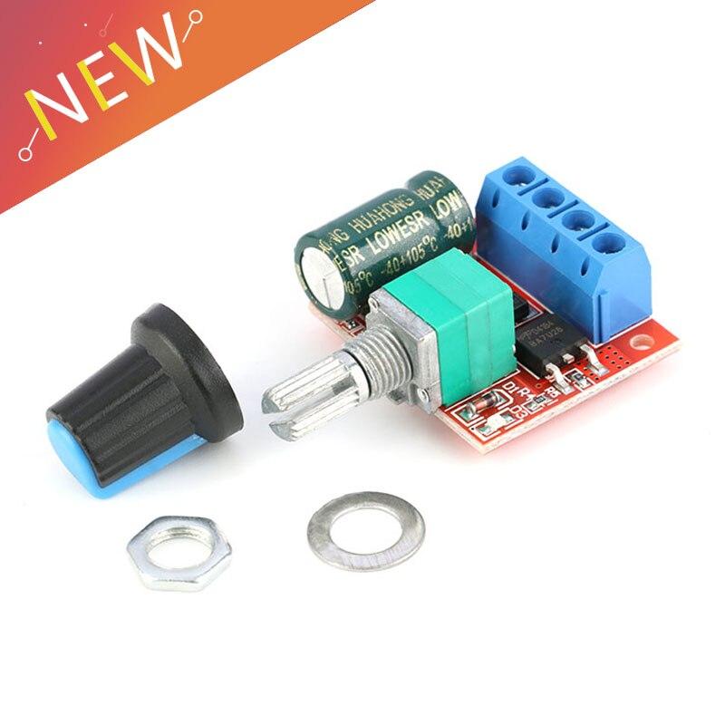 Mini PWM DC-DC Motor Speed Controller Module 5V-28V 5A 90W Speed Regulator Control Adjust Board Switch 24V