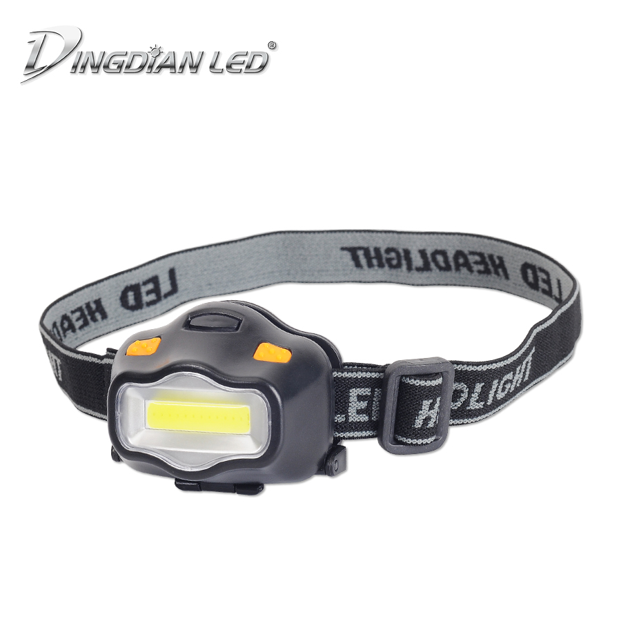 LED Head Torch COB Flashlight DC5V 3W AAA Battery 3 Level Brightness Outdoor Sports Headlight Headlamp Camping Emergency Light