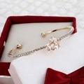 Shinning Cute Mini Stars Design Cuff Bracelet For Girl Brilliant Golden Plated Wedding Bracelet Delicate Jewelry