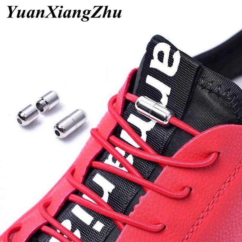 New 1Pair No Tie Shoelaces Elastic Locking Round Shoe Laces Kids Adult Sneakers Quick Shoelace Shoe Laces Shoestrings 25 Colors