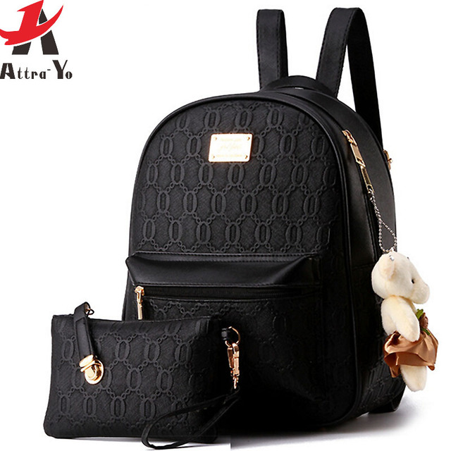 Attra Yo! women leather backpack school bag ladies 2016 women's ...