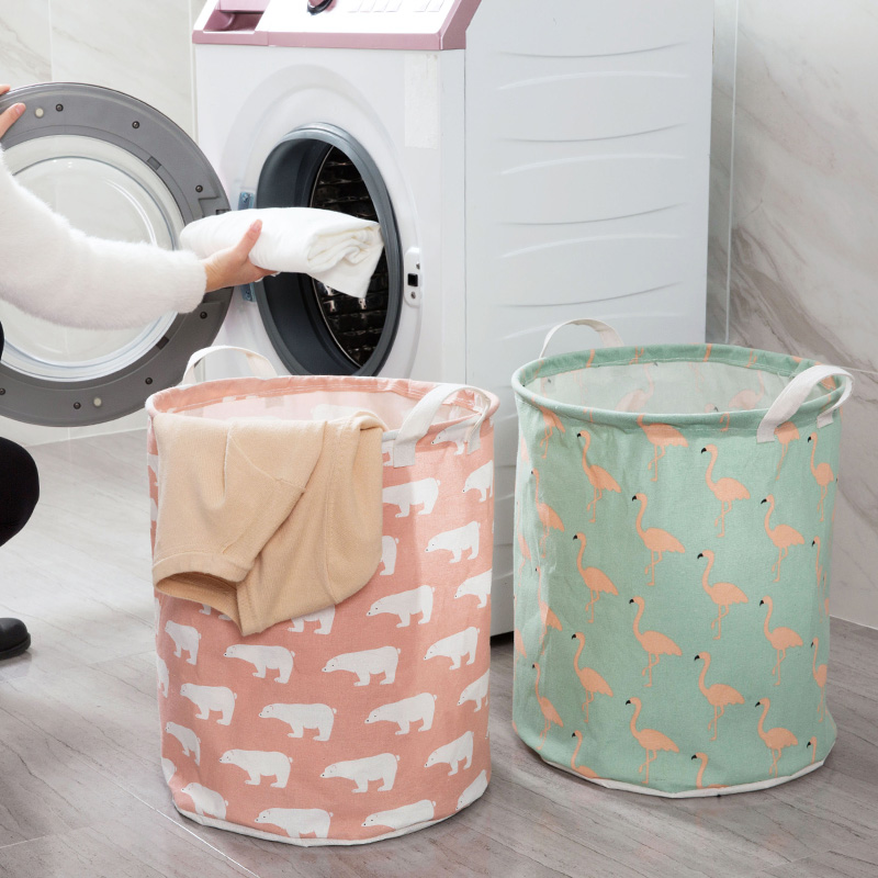 Square Collapsible Canvas Storage Box Foldable Kids Toys: Folding Cotton Linen Laundry Basket Children Toy Storage