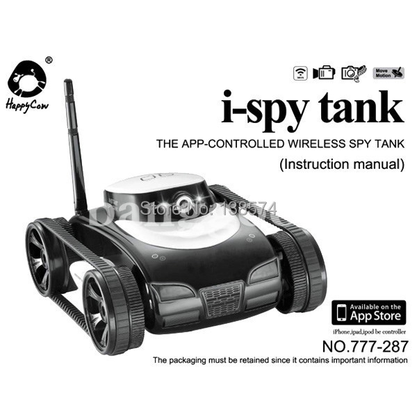 I spy tank espion camera wifi iphone ipad ipod samsung ios android.