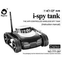 I Spy Tank Espion Camera WiFi Iphone Ipad Ipod Samsung IOS Android Apple