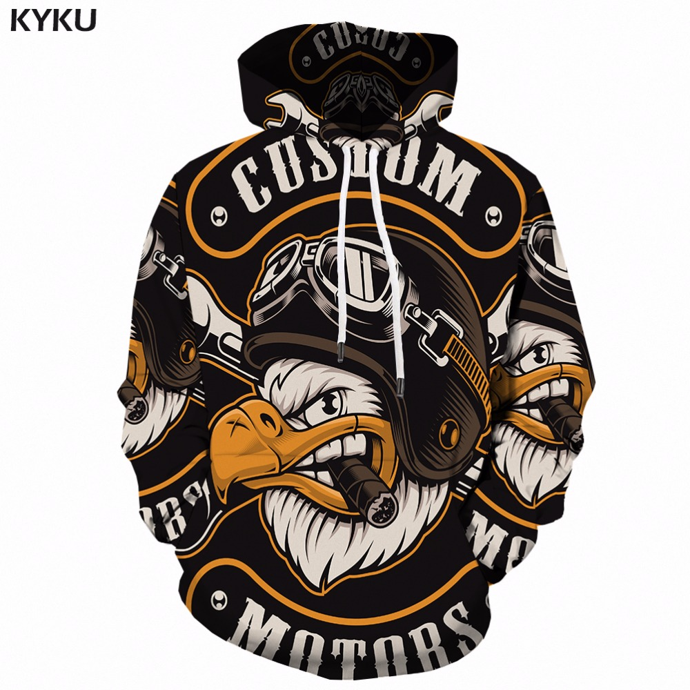 KYKU Eagle Hoodie Men Streetwear 3D Hoodies Anime 3d Printed Sweatshirt Hooded Animal Mens Clothing Casual Sweatshirts Man New