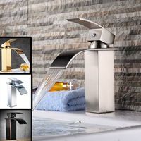 Basin Faucet Water Tap Bathroom Faucet Solid Black Nickel Brass Chrome Gold Faucets Single Handle Water Sink Tap Mixer