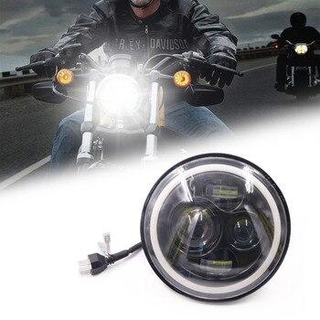7 дюймов мотоциклетные светодиодный фар автомобиля фары 6500 K H4 H13 45 W с углом зрения высокое ближнего и дальнего света для Harley Honda Yamaha >> Fodsport Motorcycle Outdoor Specialty Store
