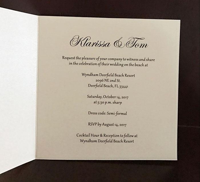 CA0686 Beach Wedding Invitations Design