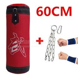 60 سنتيمتر الرمل فارغة اللكم حقيبة أطفال حقيبة ملاكمة داخلي الرياضية التدريب التايلاندية