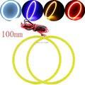 COB Angel Eyes 100 мм!! 2 Шт (1 пара) Авто Halo Кольца УДАРА 100 ММ Ангел Глаза Фар Автомобиля Мотоцикла Белый Красный Желтый синий 12 В Led