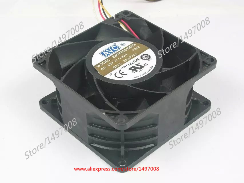 Free Shipping For AVC 2B08038B48S P086 DC 48V 0.90A 4-wire 4-pin connector 80mm 80x80x38mm Server Square cooling fan пижама серая 086 sylwia розовый s 44