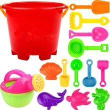 6Pcs/14Pcs Kids Beach Sand Digging Shovel Tools Car Toy Set Random Color