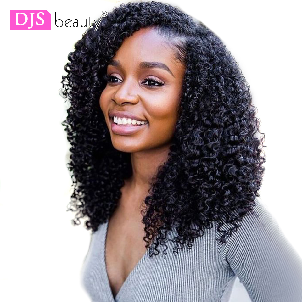 250 Density Lace Wig Kinky Curly Remy Hair 13x6 Lace Front Wig Prplucked Brazilian Deep Curly Wigs For Women DJS Beauty