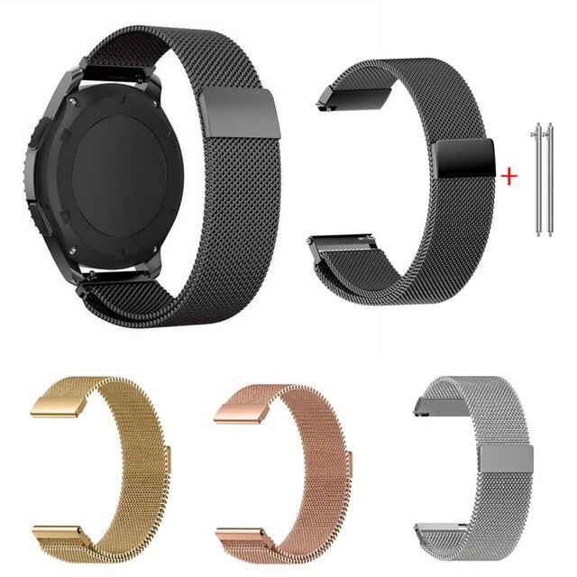 """להקת עבור Samsung הילוך S2 ספורט S3 קלאסי Frontier שעון רצועת huami amazfit קצב ביפ 20 מ""""מ 22 מ""""מ פבל זמן Garmin Vivoactive 3"""