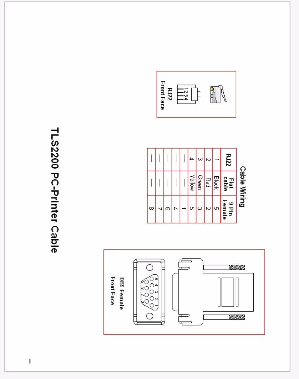 medium resolution of tls2200 pc printer cable