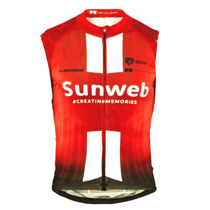2019 pro team sunweb cycling windproof vest 3 pockets breathable mens summer MTB windstopper Ropa Ciclismo Bicycle maillot gilet