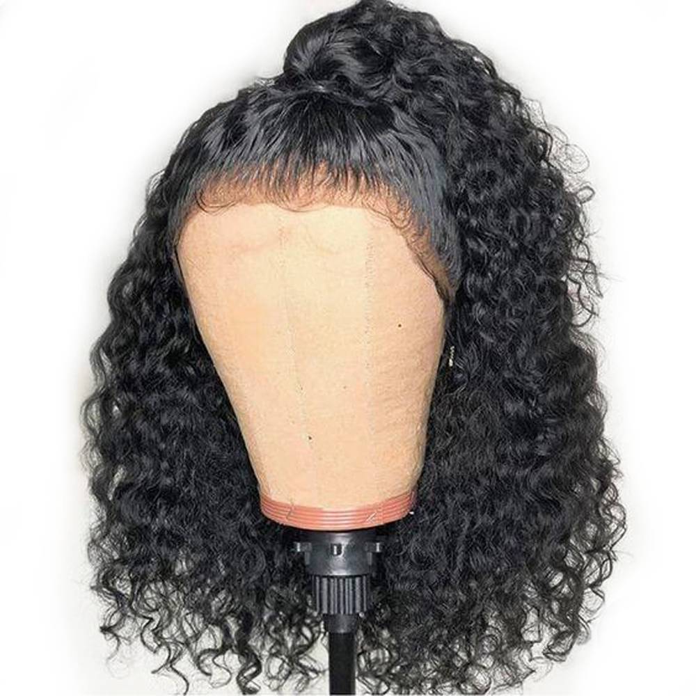 Sapphire Brazilian Lace Front Human Hair Wigs For Black Women Pre Plucked Bleached Knots Curly Wig With Baby Hair Lace Front Wig-in Human Hair Lace Wigs from Hair Extensions & Wigs    1