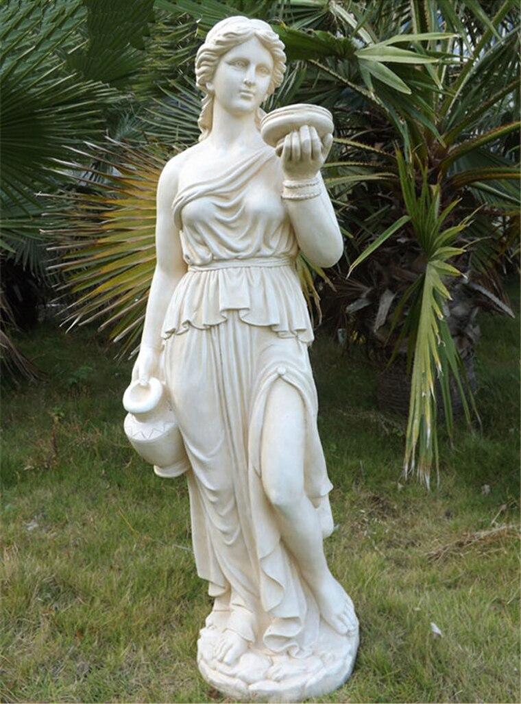 115 cm grande taille caractère européen sculpture jardin décor à la maison personnes corps statut polyrésine figurine humaine statues artisanat