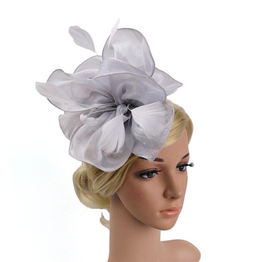 Women Fascinator Hat Headpiece Fashion Bride Headwear Fascinator Penny Ribbons Feathers Wedding Cocktail Party Mesh Hat PJ0822 headpiece