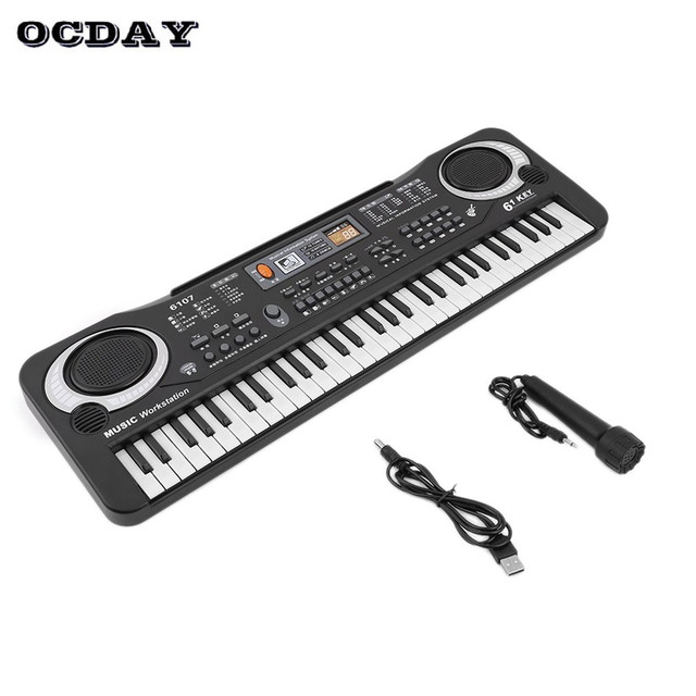 909b5cd45d7 Toy Musical Instrument Multifunction 61 Keys Digital Piano Music Electronic  Keyboard Board Electric Piano Organ for Kid Learning