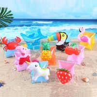 Anillo de brazo de natación inflable para niños y bebés, flotadores de mano, piscina, flotador de Flamenco de seguridad, Círculo de natación