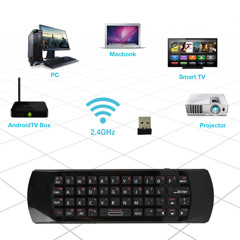 Rii mini i25A K25A 2.4G Fly Air Mouse Wireless English Keyboard Remote Microphone IR Learning for Android Smart TV Box Computer new arrival 2 4ghz wireless fly air mouse mini keyboard remote control with ir learning function for android tv box pc computer