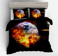 New 3D Fire Star Bedding Sets Twin Full Queen King Size Universe Outer Space Planet Bedspread