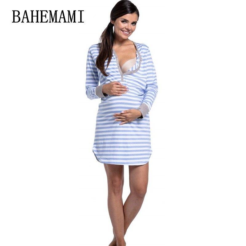 Pregnant Women autumn long sleeve Dress Striped Maternity Dresses  Breastfeeding Nursing Women Dresses Women Tops Vestidos c2659a972f66