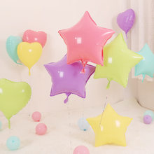 1pc 18'' Star Round Heart Macaron Foil Balloons Baby Shower Pink Blue Candy MaCaron Helium Globos Birthday Party Decoration(China)