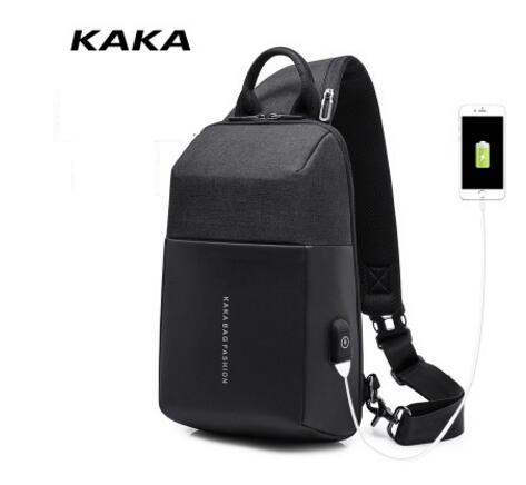 KAKA Men Messenger Bags USB charging shoulder bag for men chest bag day pack Anti Theft Male Cross body Shoulder bags mochilas deelfel new brand shoulder bags for men messenger bags male cross body bag casual men commercial briefcase bag designer handbags