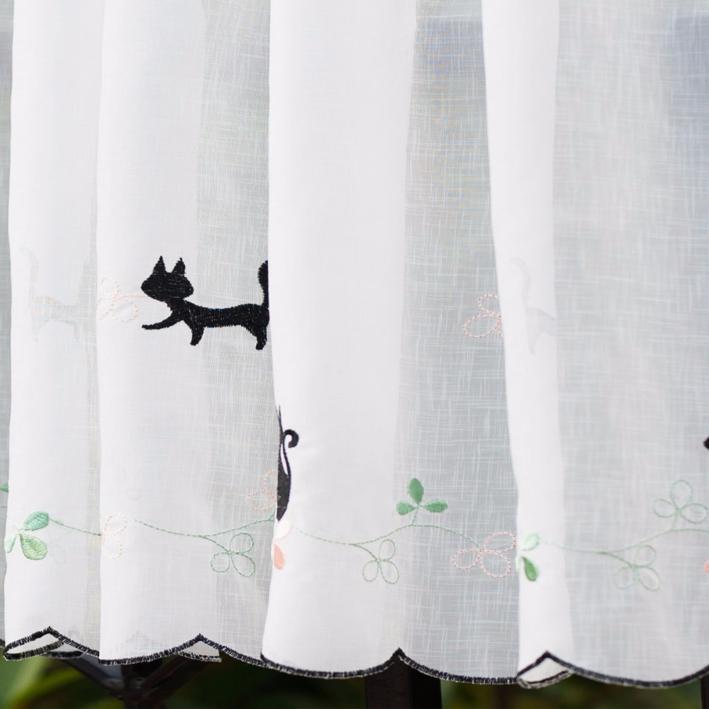 Cute Animal Window Curtains Cat Cafe Curtain Home Decorative Christmas For Kitchen High Quality Coffee 45x150cm In From
