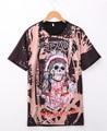Yeezus Indian Skull T-Shirt God Wants You Tour Yeezy Kanye Tee Men Top Tee Skull and crossbones TSHIRT