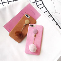 Luxury 3D Candy Color Fashion Velvet Fabric Mobile Phone Cases For IPhoneX 8 8PLus Protective Shell