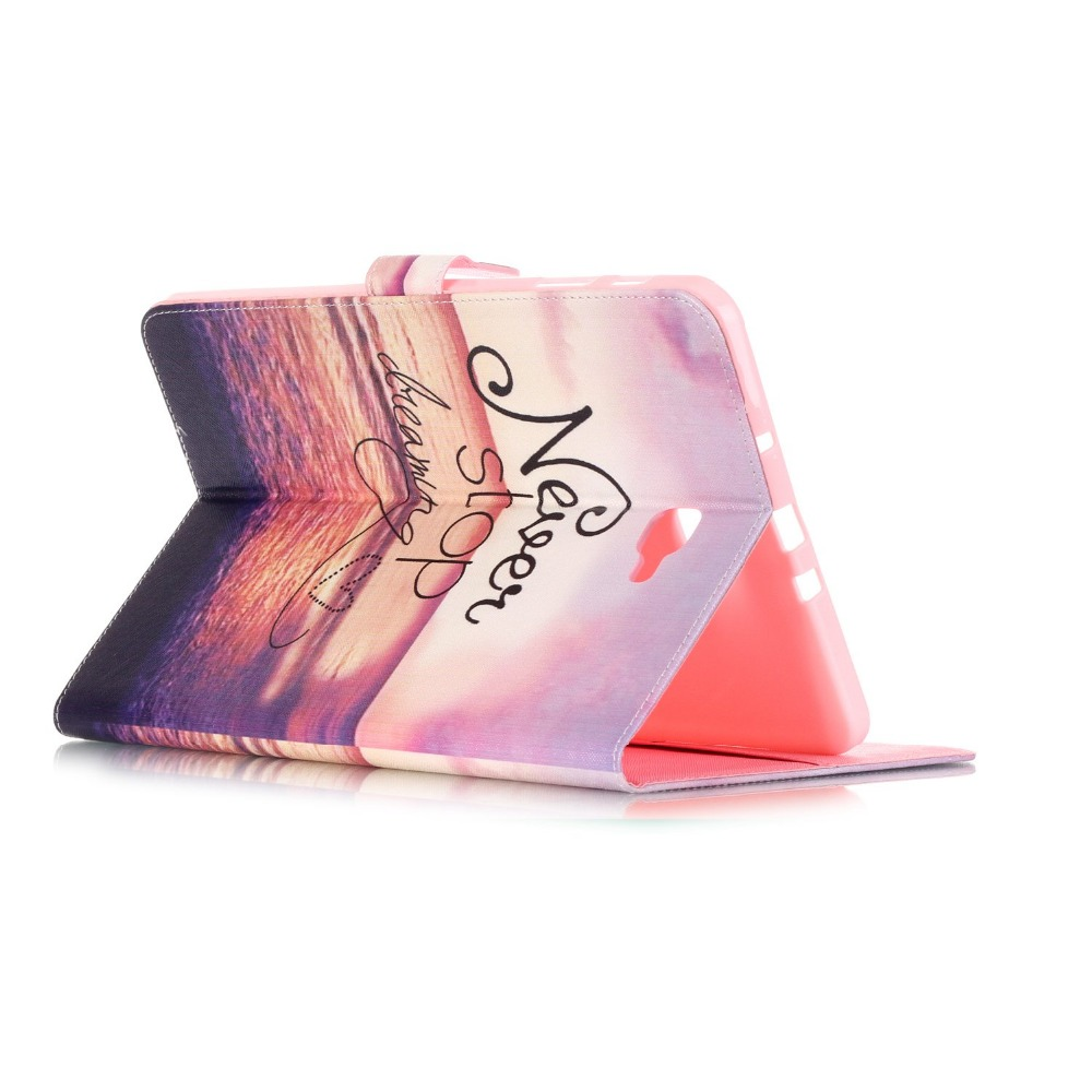 High Quality Cartoon Print Stand PU Leather Tablet Cover Protective Case For Samsung Galaxy Tab A 10.1 T580 T585 SM-T580 T580N luxury flip stand case for samsung galaxy tab 3 10 1 p5200 p5210 p5220 tablet 10 1 inch pu leather protective cover for tab3